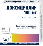 Belmedpreparations Doxycycline, 100 mg, 10 caps.