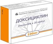 Borimed Doxycycline, 100 mg, 10 caps.