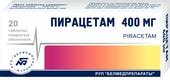 Belmedpreparat Piracetam, 400 mg, 20 tab.