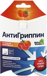 Natur Produkt Antigrippin with grapefruit flavor, 10 spike. tab.