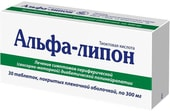 Kiev vitamin plant Alfa-Lipon, 0.3 g, 30 tablets