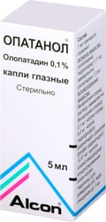Alcon Opatanol Drops, 0.1%, 5 ml.
