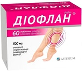 Arterium Dioflan, 500 mg, 60 tablets