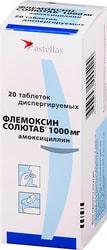 Astellas Flemoxin Solutab, 1000 mg, 20 tablets Disp.