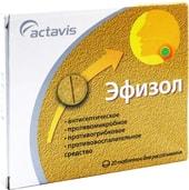 Actavis Efisol, 0.25 mg / 30 mg, 20 tab.