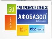 OTCpharm Afobazole, 10 mg, 60 tablets