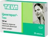 Teva Zincteral, 124 mg, 25 tab.