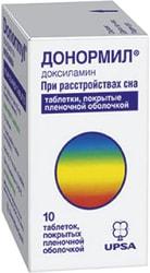 UPSA Donormil, 15 mg, 10 tab.